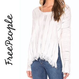 Free People NEW | Ocean Drive sweater ivory medium